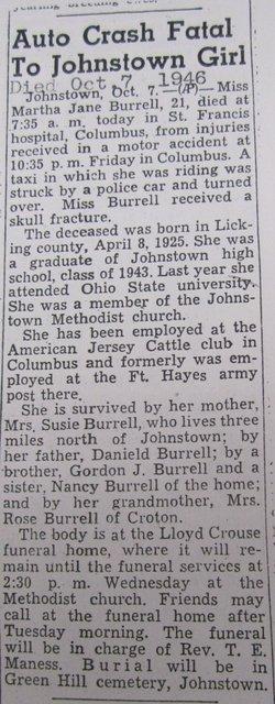 Martha Jane Burrell