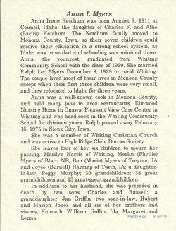 Anna Irene <i>Ketchum</i> Myers