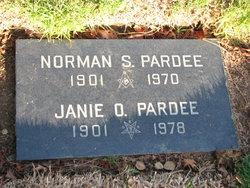 Janie Elizabeth <i>Orrill</i> Pardee