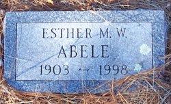 Ester M <i>Washburn</i> Abele