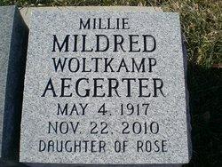 Mildred Millie <i>Woltkamp</i> Aegerter