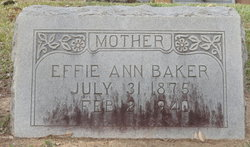 Effie Ann Baker