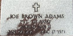 Pvt Joe Brown Adams