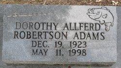 Dorothy Allferd <i>Robertson</i> Adams
