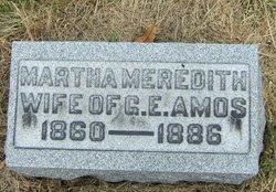 Martha <i>Meredith</i> Amos