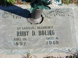 Ruby Ethel <i>Davis</i> Boling