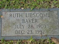 Ruth <i>Lipscomb</i> Baker