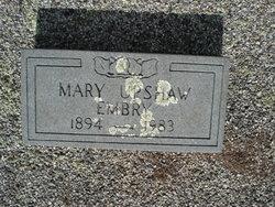 Mary <i>Upshaw</i> Embry