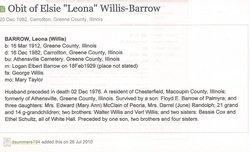 E Leona <i>Willis</i> Barrow