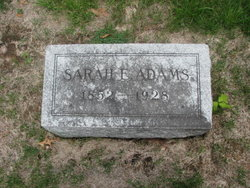 Sarah Elizabeth <i>Kelley</i> Adams