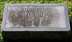 Talola Vashti <i>Davis</i> Simpson
