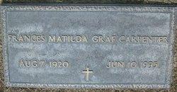 Frances Matilda <i>Graf</i> Carpenter