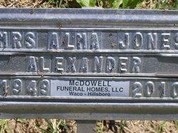 Alma <i>Jones</i> Alexander