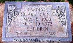 Carolyn <i>Blake</i> Cain