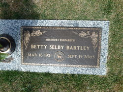 Missouri Elizabeth Betty <i>Selby</i> Bartley
