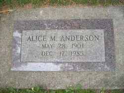 Alice M <i>Cunningham</i> Anderson