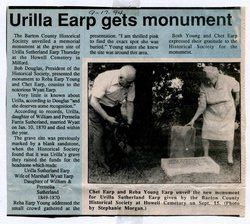 Urilla <i>Sutherland</i> Earp