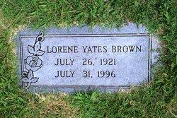 Lorene <i>Yates</i> Brown