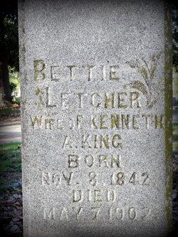 Mary Elizabeth Bettie <i>Letcher</i> King