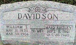 Mary Thomas Mollie <i>Kirtley</i> Davidson