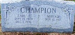 Earl J Champion