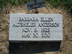 Barbara Ellen <i>Altsheler</i> Anderson