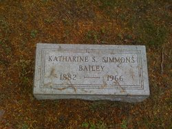 Katharine Sturges <i>Simmons</i> Bailey