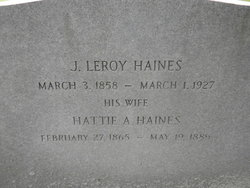 Hattie A. <i>Hammond</i> Haines