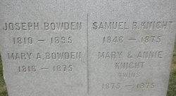 Mary A. <i>Stone</i> Bowden
