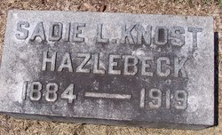 Sadie L. <i>Knost</i> Hazlebeck