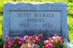 Betty <i>Beckner</i> Rhodes