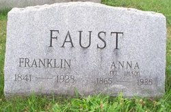 Anna <i>Wilson</i> Faust