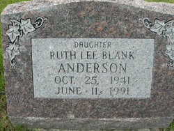 Ruth Lee <i>Blank</i> Anderson