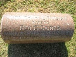 Edyth F. <i>Ormsby</i> Caines