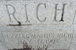 Myrtle Mathis Rich
