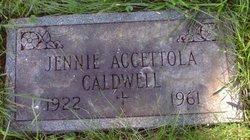 Jennie <i>Accettola</i> Caldwell