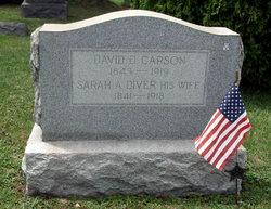 Sarah A <i>Diver</i> Carson