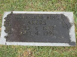Geraldine F <i>King</i> Akers