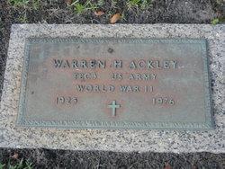 Warren A Ackley