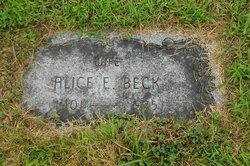 Alice E <i>Rollins</i> Beck