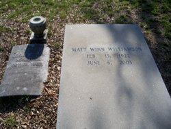 Matt Winn Winn Williamson