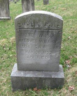 Irene <i>Wilson</i> Baker/Williams