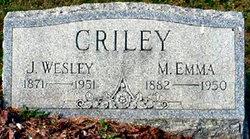 Mary E Emma <i>Smith</i> Criley