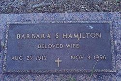 Barbara S Hamilton