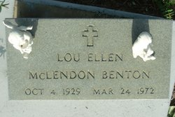 Lou Ellen <i>McLendon</i> Benton