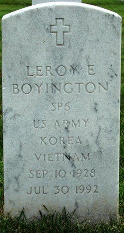 Leroy E Boyington