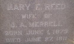 Mary E <i>Reed</i> Merrell