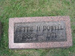 Hettie Lee <i>Helt</i> Dowell