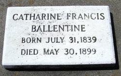 Catharine Francis <i>Woodhouse</i> Ballentine