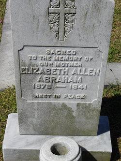 Elizabeth <i>Allen</i> Abraham